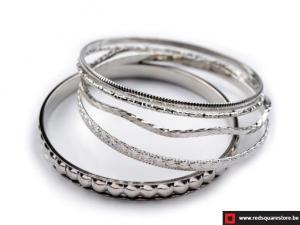 Bangle armband bestaande uit 5 afzonderlijke armbanden - grijs