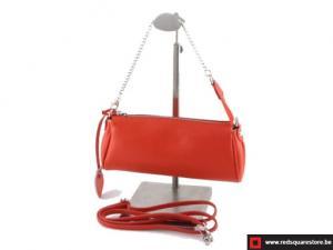 Lederen dames handtas - Lin Hall - rood