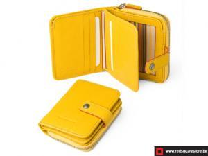 Leren dames portefeuille Toscanella - geel