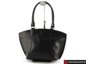 Lederen dames handtas - Creggandevesky  - zwart