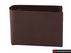 Leren heren portefeuille Matisse - donker bruin