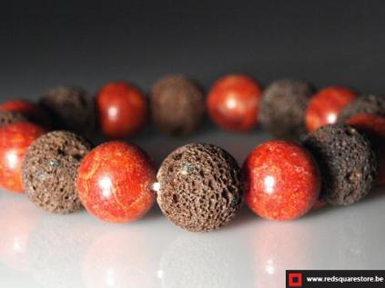 armband lava koraal rood