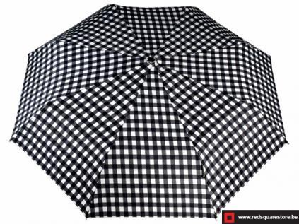 530741zw  dames paraplu opvouwbaar ann zwart 01