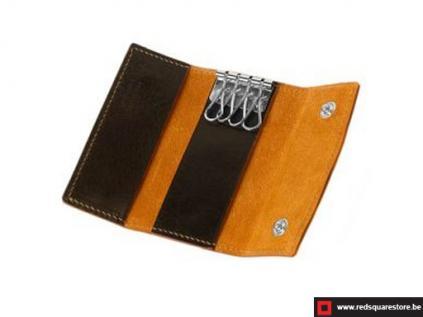 ccod522vadb leren sleutelhanger toscanella fold-up donker bruin 03