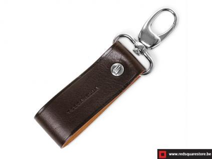 ccod532vabr leren sleutelhanger toscanella clip haak bruin 01