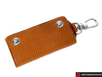 ccod534vabr leren sleutelhanger toscanella fold-up_klip haak bruin 01