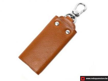 ccod534vabr leren sleutelhanger toscanella fold-up klip haak bruin 02