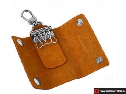 ccod534vabr leren sleutelhanger toscanella fold-up_klip haak bruin 03