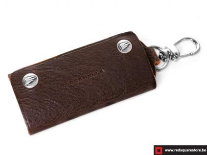 ccod534vadb_leren sleutelhanger toscanella fold-up klip haak donker bruin 01
