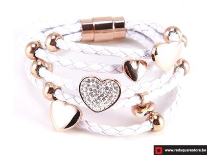 nbnnsb332 wit leren armband met gouden hartjes wit 01