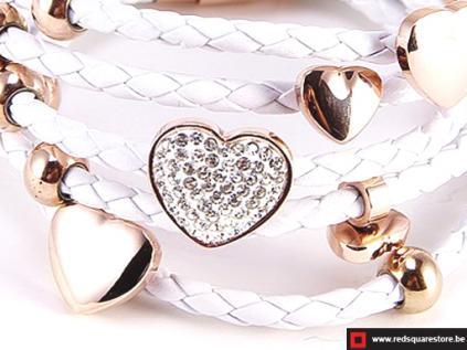 nbnnsb332 wit leren armband met gouden hartjes wit 02