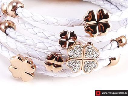 nbnnsb336 wit leren armband met gouden bloemetje wit 02
