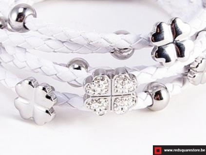 nbnnsb337 wit leren armband met zilveren met bloemetje wit 02