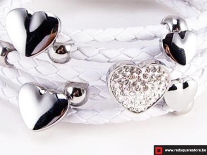 nbnsb333wt wit leren armband met zilveren met hartjes wit 02