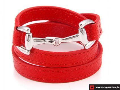 nbnsts832 rood leren armband met zilveren haak sluiting 01