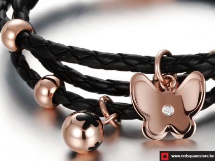 nsbgs351zw zwart leren armband met gouden vlinders zwart 02